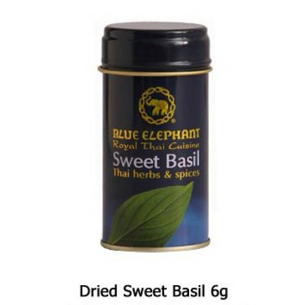 blue elephant Royal Thai Cuisine Dried Sweet Basil 6g