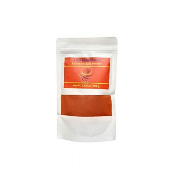 100% Pure Kashmiri Chilli Powder 100g - 3.53oz Deggi Mirch, Low...