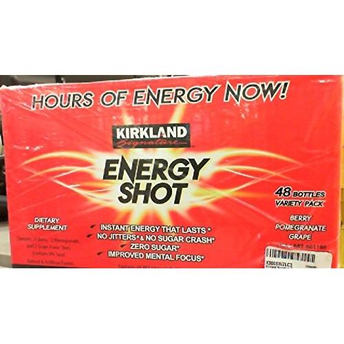 Kirkland Signature Energy Shot, Dietary Supplement: 48 Bottles V...