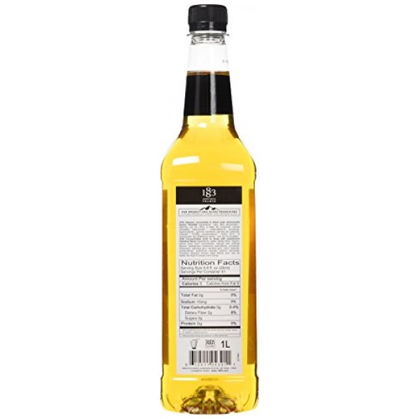 1883 Maison Routin France Sugar Free Hazelnut Syrup, 33.8 Fl Oz
