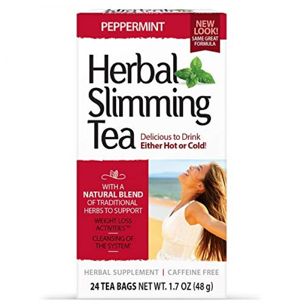 21st Century Slimming Tea, Peppermint, 24 Count