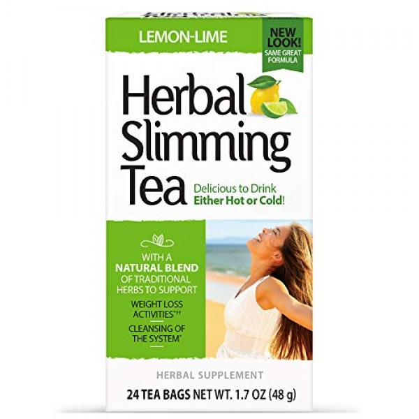 21st Century Slimming Tea, Lemon Lime, 24 Count