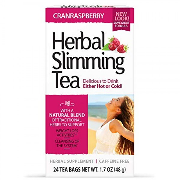 21st Century Slimming Tea, Cran Raspberry, 24 Count
