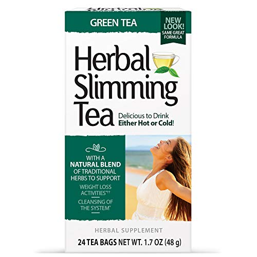 21st Century Slimming Tea, Green Tea, 24 Count Pack of 3