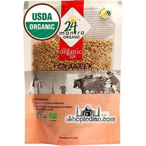 24 mantra Organic Fenugreek Seeds 7 oz [USDA Certified] Whole ...