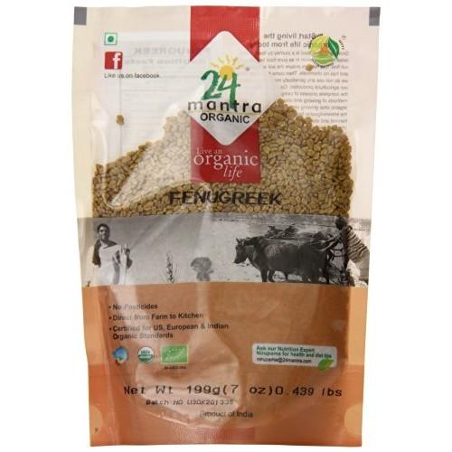 24 Mantara 24 Mantra Organic Fenugreek Methi - 7 Ounce ,,