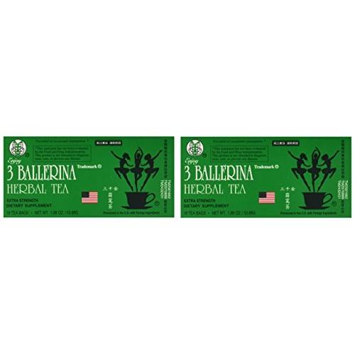 3 Ballerina Dieters Tea Extra Strength - 2 Pack 36 Tea Bags
