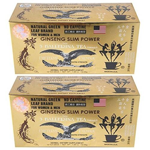 Ginseng Slim Power 3 Ballerina Tea - Herbal Dietary Supplement -...