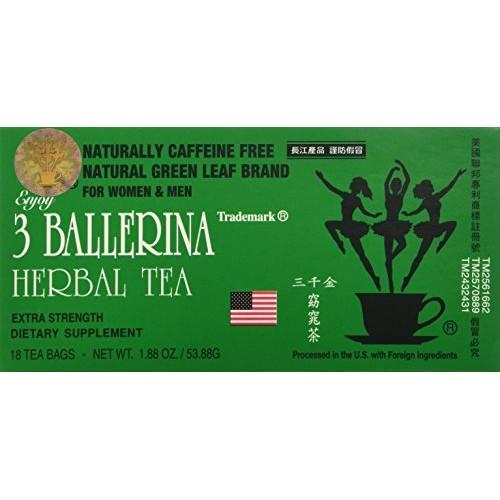 3 Ballerina Diet Tea Extra Strength for Men and Women 6 Boxes x...