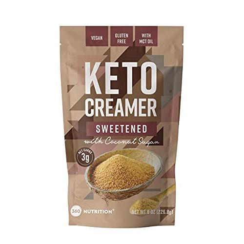 360 Nutrition KETO Creamer With MCT Oil   Sweetened Dairy Free  ...