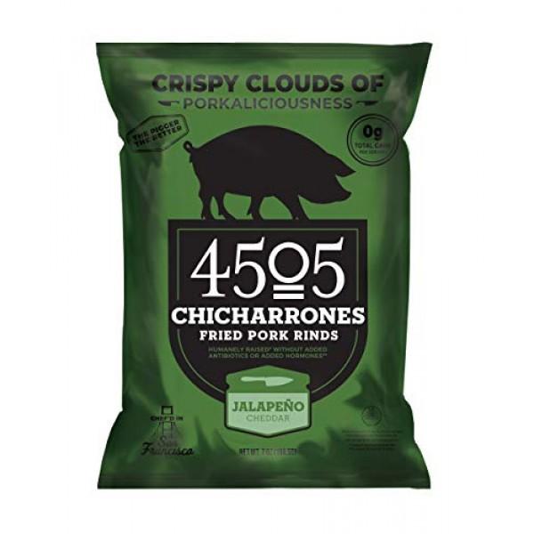 4505 Jalapeno Cheddar Pork Rinds, Certified Keto, Humanely Raise...