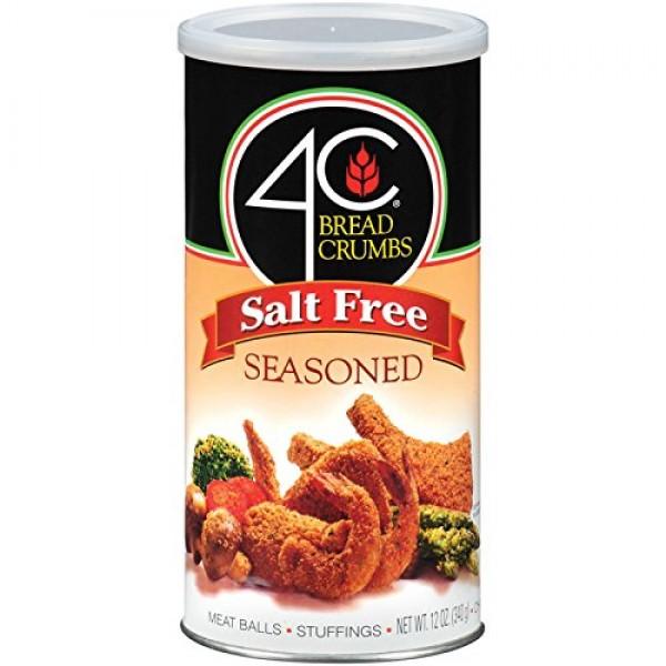4C Salt Free Seasoned Bread Crumbs 12 oz. Pack of 3