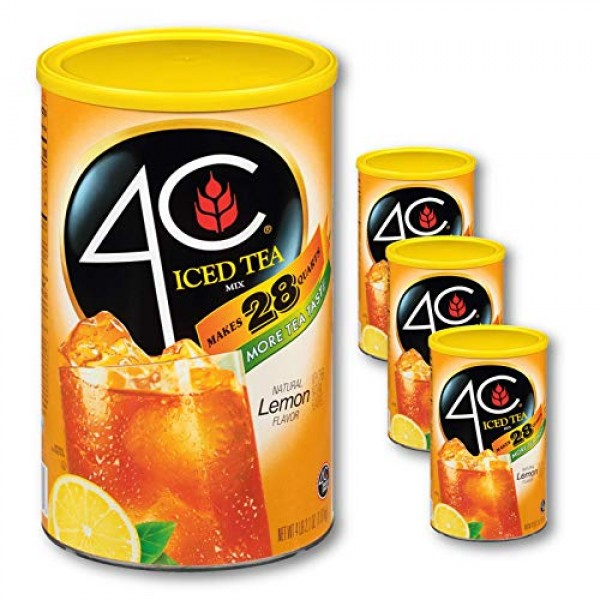 4C Powdered Drink Mix Cannisters | Family Sized Cannister | Thir...