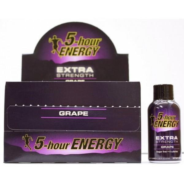 5 Hour Energy Extra Grape Flavor - 12/2oz Shots