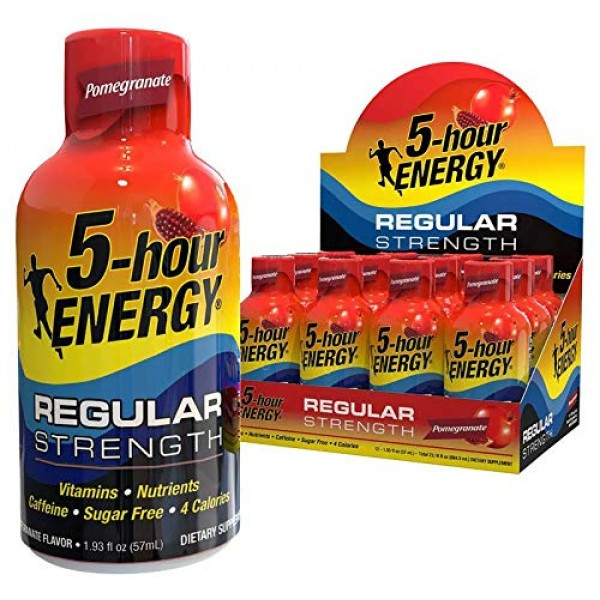 5-hour ENERGY Shot, Regular Strength, Pomegranate, 1.93 Ounce, 1...