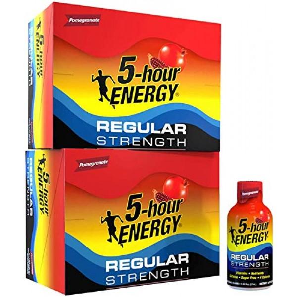 5-hour ENERGY Shot, Regular Strength, Pomegranate, 1.93 Ounce, 2...