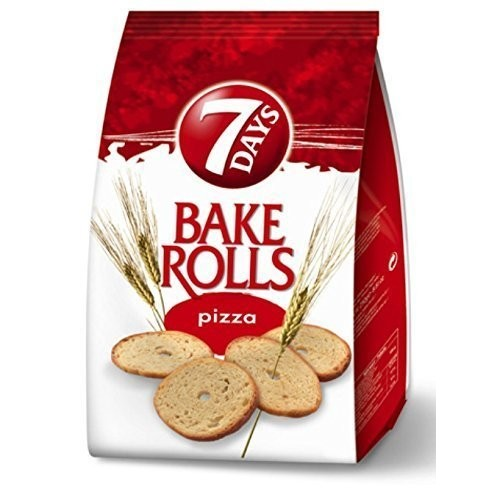 7 Days Bake Rolls From Greece with Pizza Flavor - 160g 5.64 Oz b...