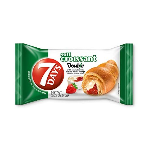 7Days Soft Croissant, Strawberry Vanilla Filling, Perfect Breakf...