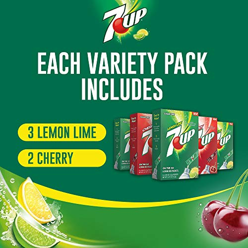7-UP, Variety Pack - Powder Drink Mix - (5 boxes, 30 ...