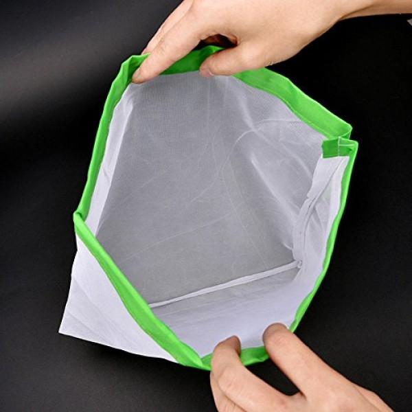856store 12Pcs/Set Reusable Produce Bags Drawstring Mesh Vegetab...