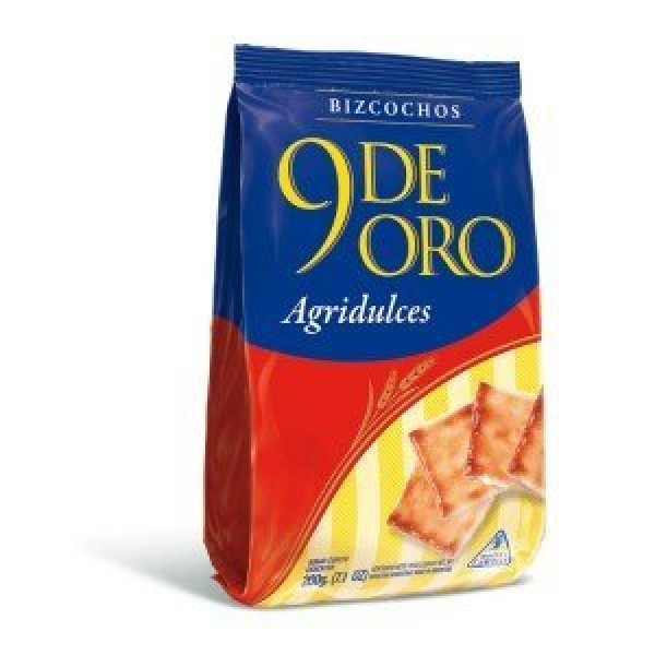 9 De Oro Biscuits Agridulce 200 gr 6 Pack