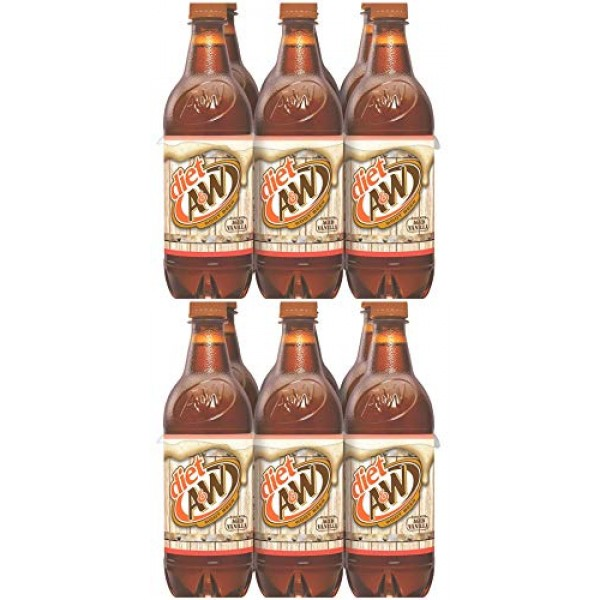 A&W Diet Root Beer, 16.9 Fl Oz, 12 Count