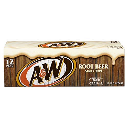 A&W Root Beer, 12 fl oz cans pack of 12