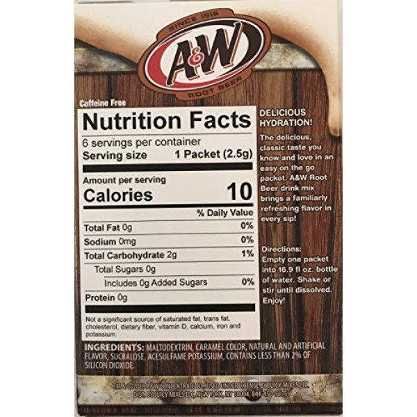 A&W Singles To Go Powder Packets - Sugar Free, Non-Carbonated Ro...