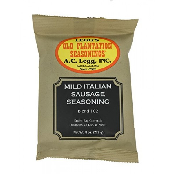 A.C. Legg - Mild Italian Sausage Seasoning - 8 Ounce