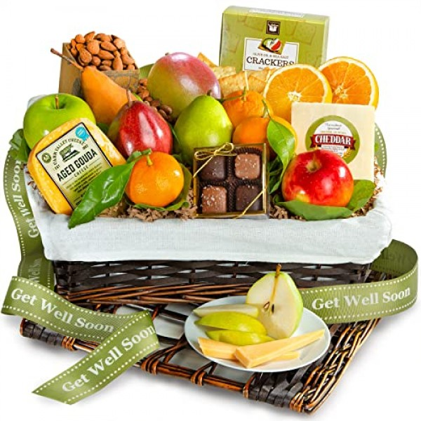 A Gift Inside Get Well Soon Deluxe Fruit Gift Basket,,