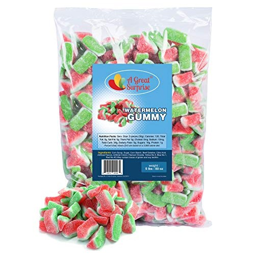 Gummy Candy - Watermelon Candy - Gummy Watermelon Slices - Pink ...