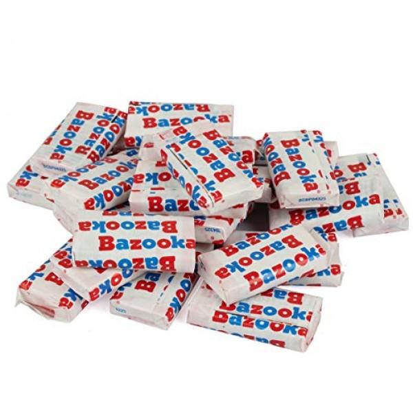 Bazooka Bubble Gum Original Chunks - Pink Candy - 4 LB Bulk Candy