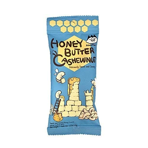 Prince Katsu Honey Butter Nuts, sweet and savory nuts, made in K...