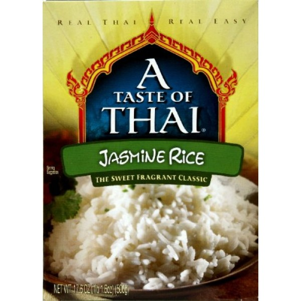 A Taste of Thai Jasmine Rice, 17.6-Ounce Boxes Pack of 6