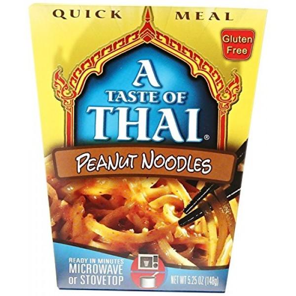 A Taste of Thai PEANUT NOODLES Gluten-Free Quick Meal 5.25oz 8 ...