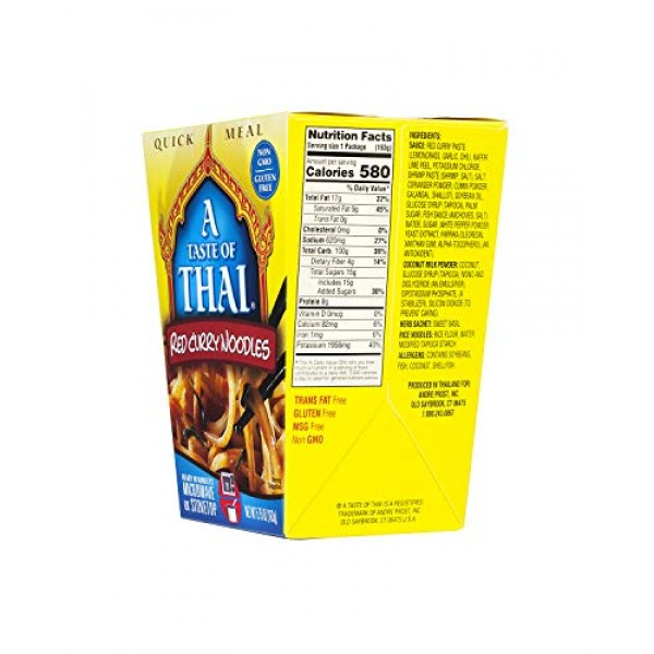 A Taste of Thai Red Curry Noodles Quick Meal, 5.75-Ounce Boxes ...
