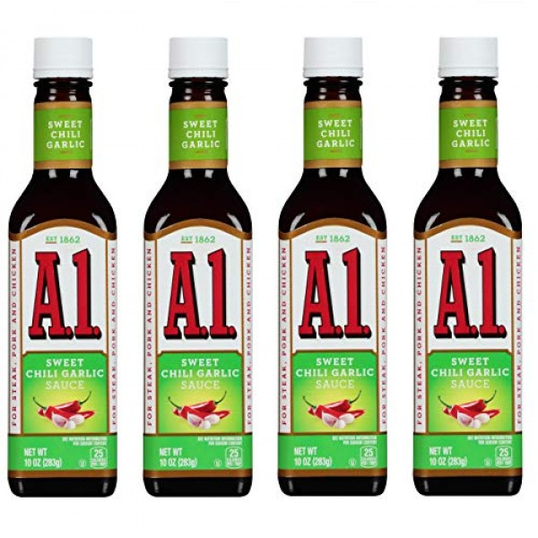 A1 Sweet Chili Garlic Sauce 10 Oz Pack of 4