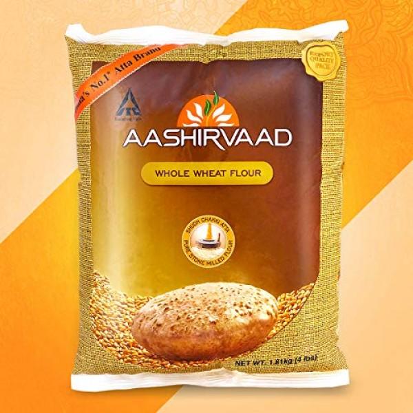 Aashirvaad Whole Wheat Flour - 4 Pound