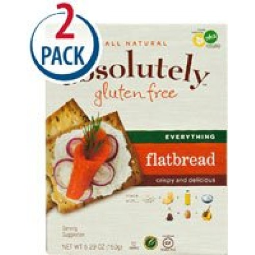 Absolutely Gluten Free Flatbread Everything -- 5.29 oz Each / Pa...