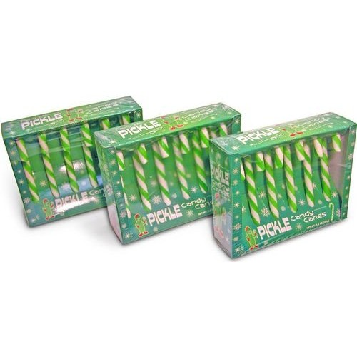 Accoutrements Fancy Pickle Flavored Candy Canes (18 CANDY CANES ...