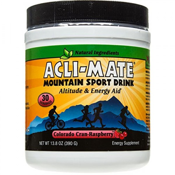 Acli-Mate Mountain Sport Drink, Cran-Raspberry, 10.9-Ounce