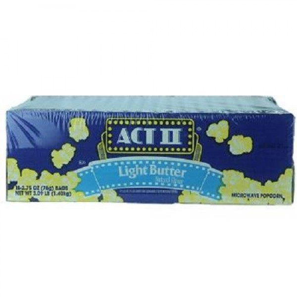 ACT II POPCORN LIGHT BUTTER 2.75 oz Each 18 in a Pack