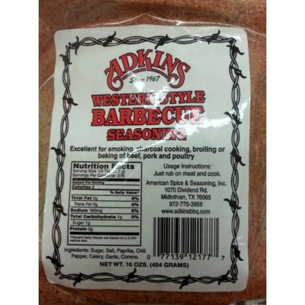 Adkins Western Style Barbecue Seasoning 16 Oz Bags Pack of 6