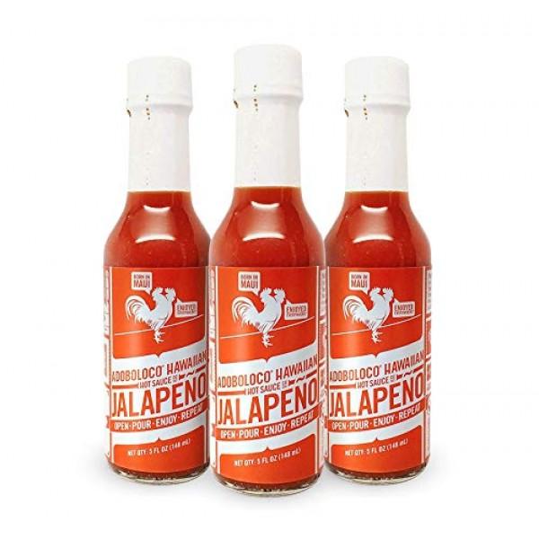 Adoboloco Hot Sauce Jalapeno Hawaiian Sauce - Mild Red Umami Sau...