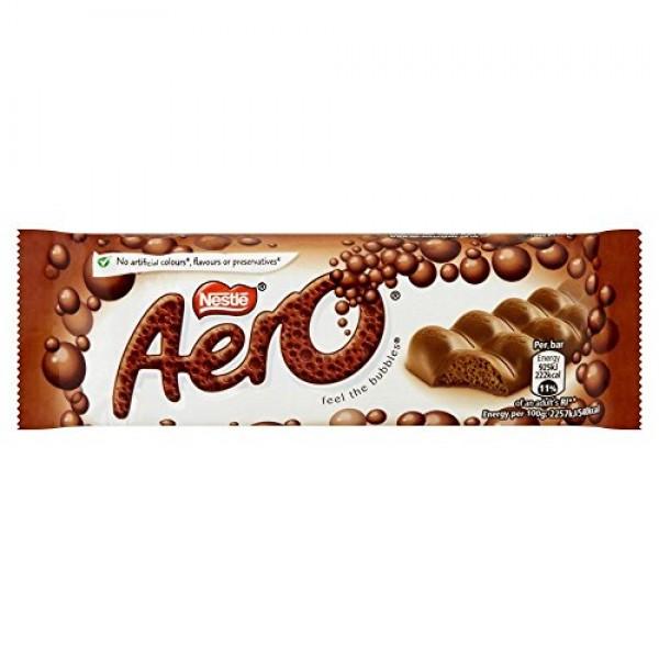 Aero Bubbly Milk Bar - 40g - Pack of 12 40g x 12 Bars