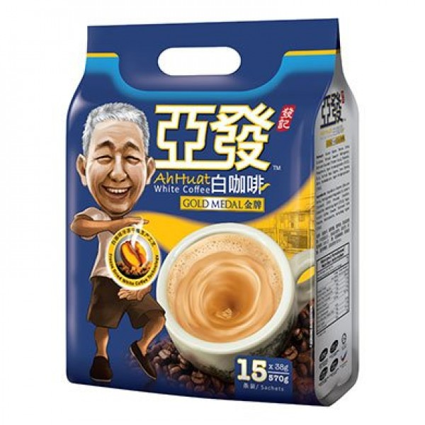 4-Pack Ah Huat 3 In 1 Gold Medal/Double Shot Rich Aroma Instant ...