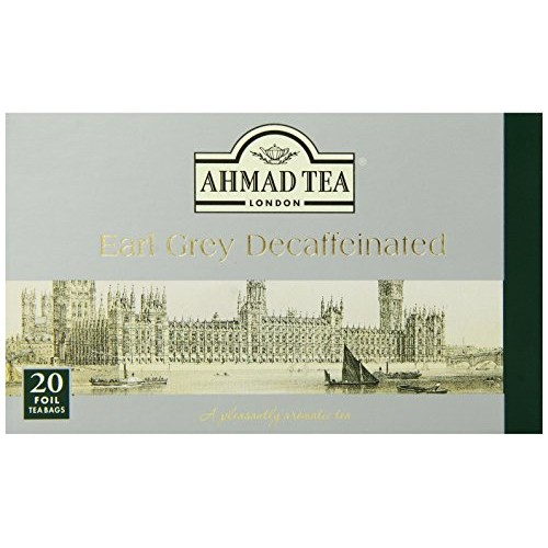 Ahmad Tea Decaffeinated Earl Grey Tea, 20-Count Boxes Pack of 6