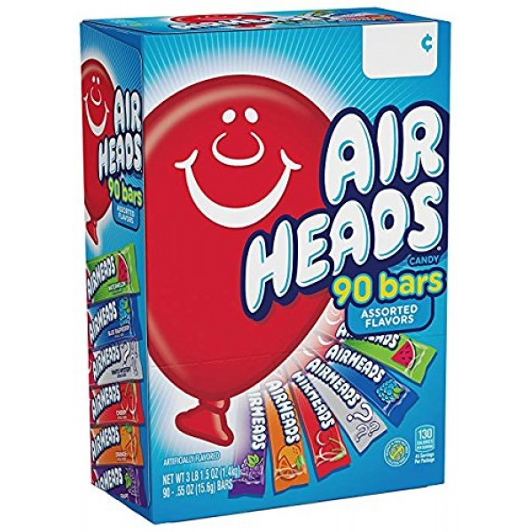 AirHeads Bars, Chewy Fruit Candy, Variety Pack, Non Melting, 90 ...