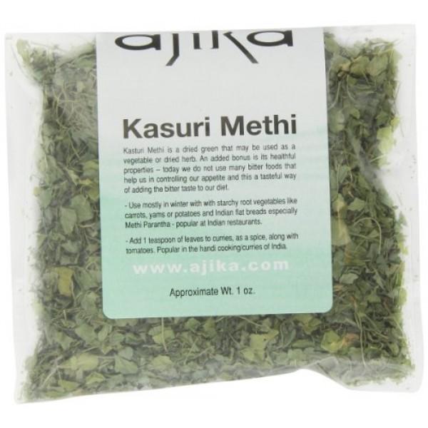 Ajika Fenugreek Leaves or Kasuri Methi, 1-Ounce