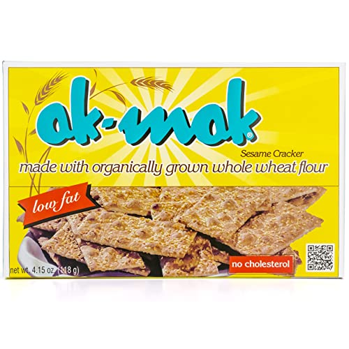 Ak-Mak Sesame Crackers, 4.15-Ounce Boxespack of 3